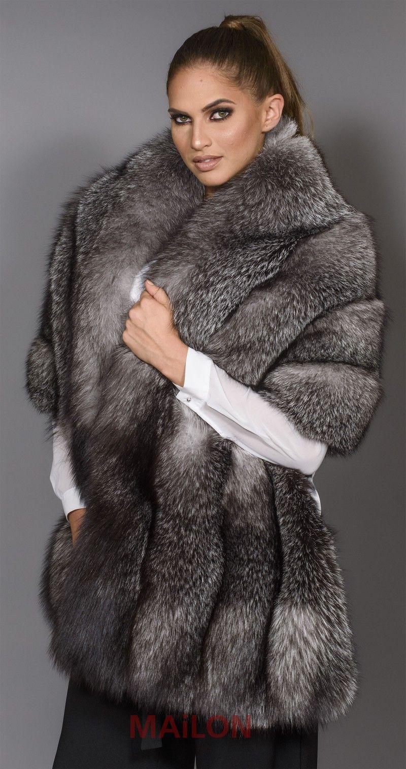 03c6da34a SAGA Blue Frost Fox Boa / Cape - Fox | Fur | Fur, Fur jacket, Fur ...