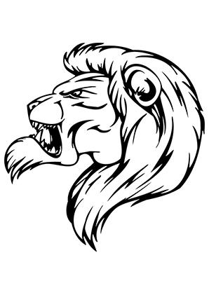 Ausmalbild Gemeiner Lowe Zum Kostenlosen Ausdrucken Und Ausmalen Ausmalbilder Ausmalbilderlowe Malvorlagen Ausmalen S Lion Face Stone Art Mascot