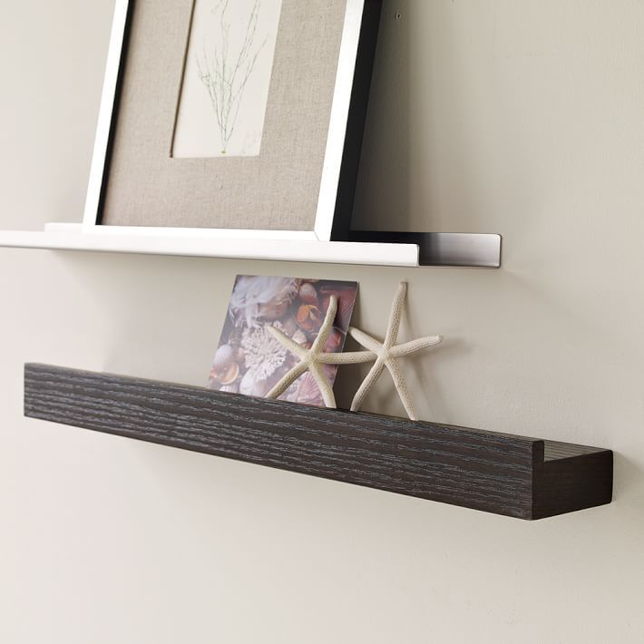 Floating Shelves With Lip Prepossessing Picture Ledge  Idea For Half Bath Redo  House Ideas  Pinterest
