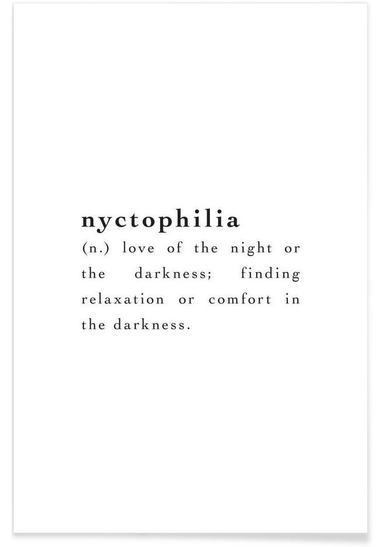 print inspiring quote wall art poster picture nyctophilia definition gift