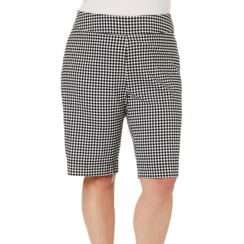 7aa70beb783 Coral Bay Plus Millennium Gingham Print Bermuda Shorts in 2019 ...