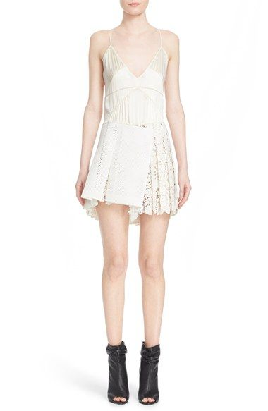 Burberry Prorsum Mesh & Floral Lace Silk Camisole Dress available at #Nordstrom