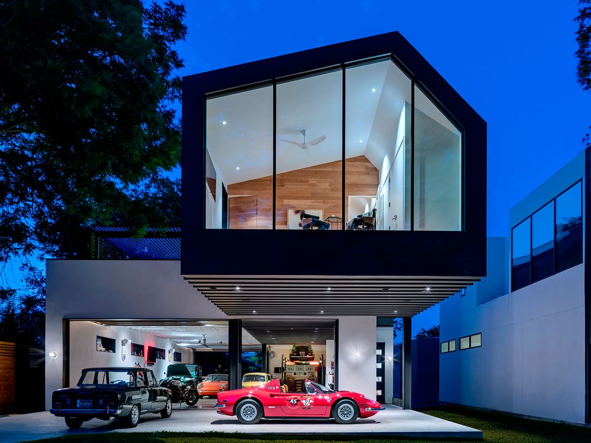 The Autohaus Is A House For True Car Lovers This Car Collector To Rival All Car Collectors Garage And House Is Austin Homes Garage House Plans Garage Design