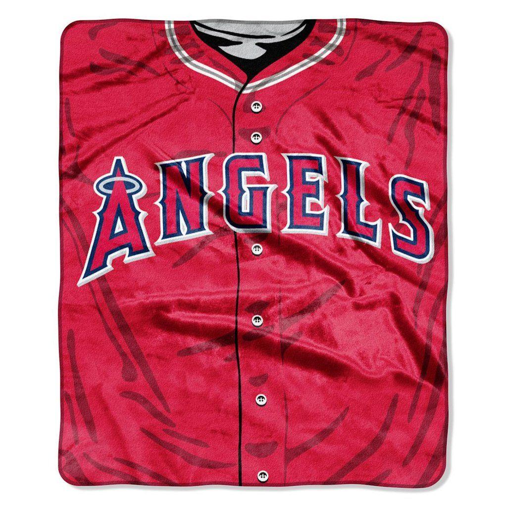 huge discount 5a32f dee49 Los Angeles Angels Blanket 50x60 Raschel Jersey Design | Los ...