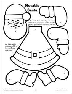 movable santa pattern