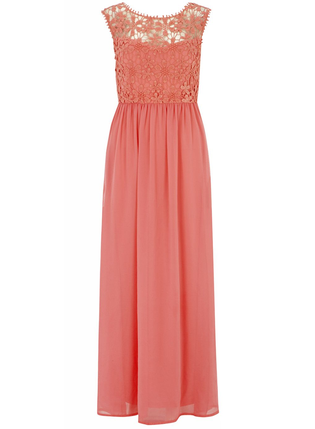Destination wedding guest dresses  Lola Skye Coral Crochet Maxi Dress  Summer Maxis and Style