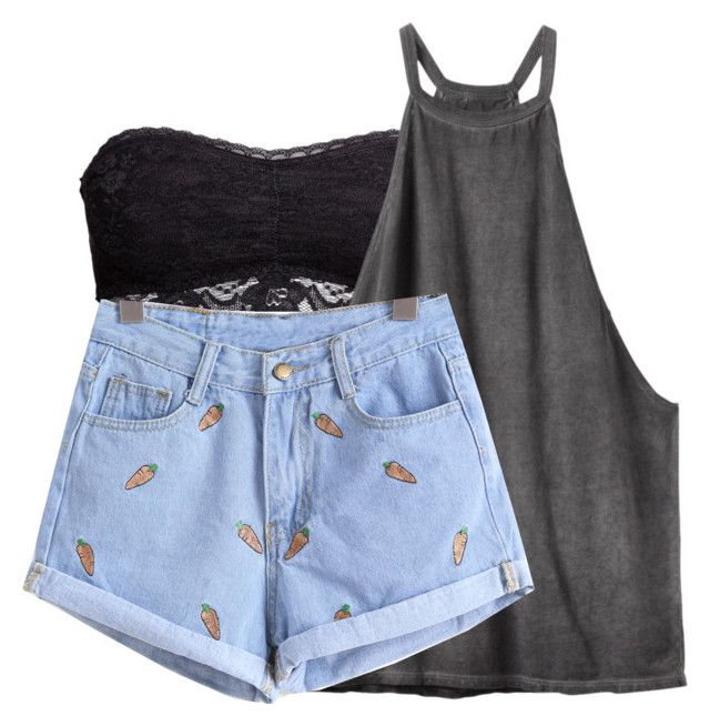 """""""Bralets are my fav"""" by a-good-old-southern-belle ❤ liked on Polyvore featuring H&M and RVCA"""