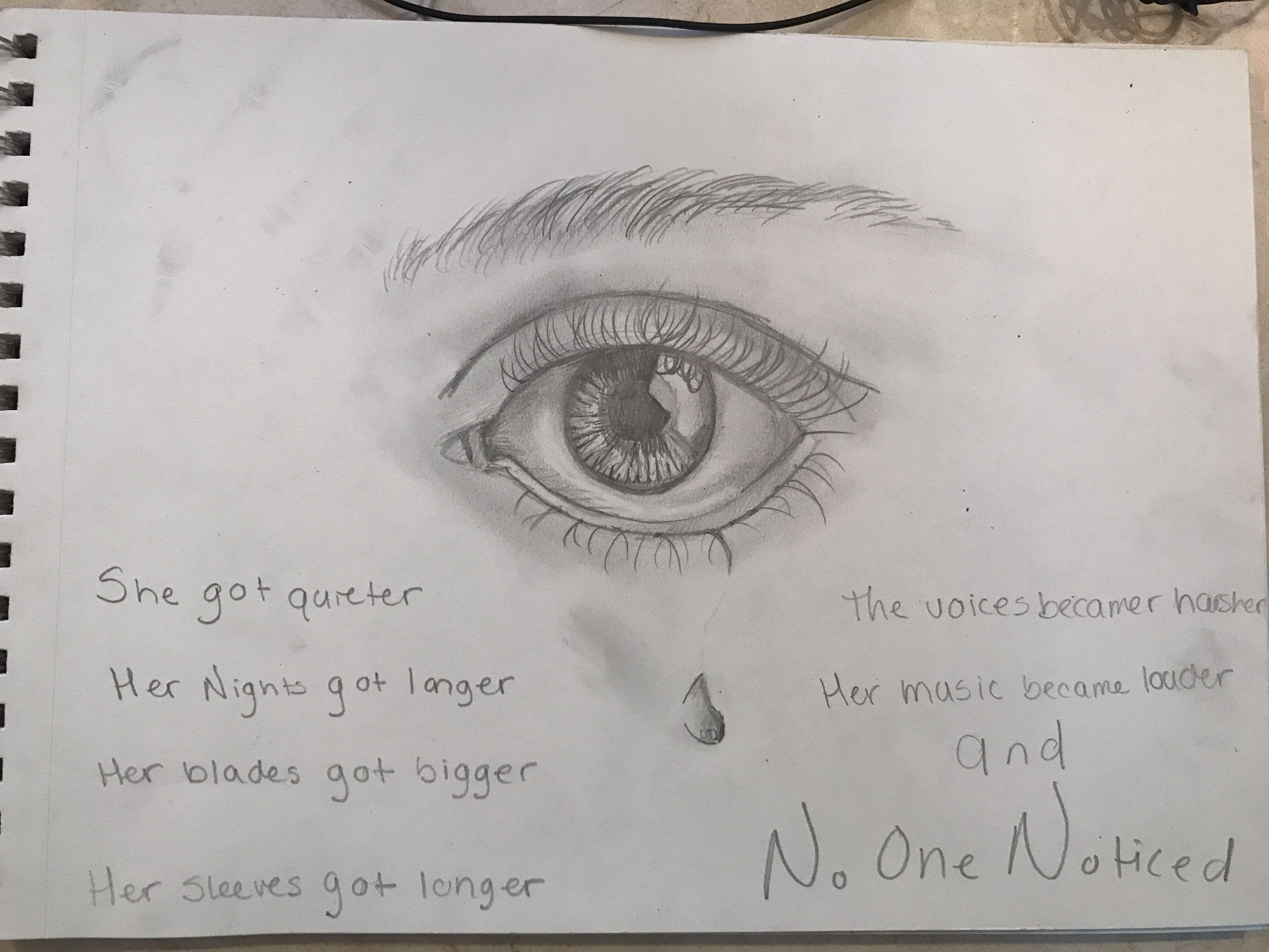 Depression Self Harm Pencil Drawings