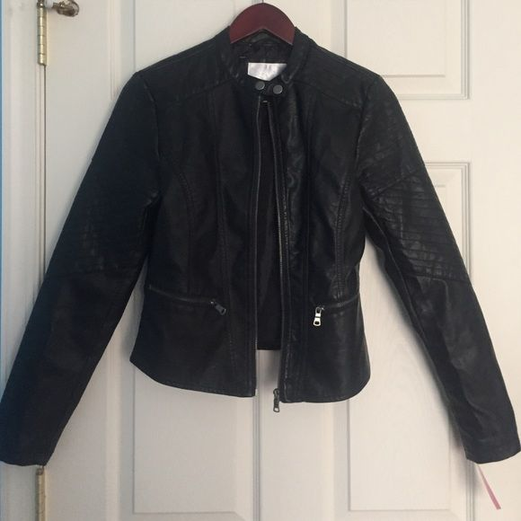 Cute Faux Leather Jacket Nwt Leather Jacket Jackets Faux Leather Jackets