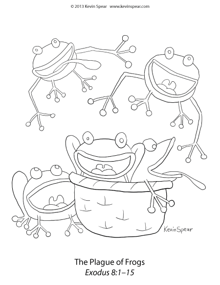 Plague Of Frogs Coloring Page Kevinspear Com Frog Coloring Pages Bible Coloring Pages Bible Coloring