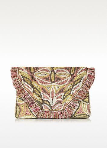 Antik Batik Austeen Clutch aus Leder