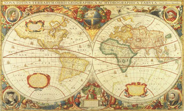 Antique World Map Wall Mural C873 by Environmental Graphics Wall - copy 3d world map hd wallpaper