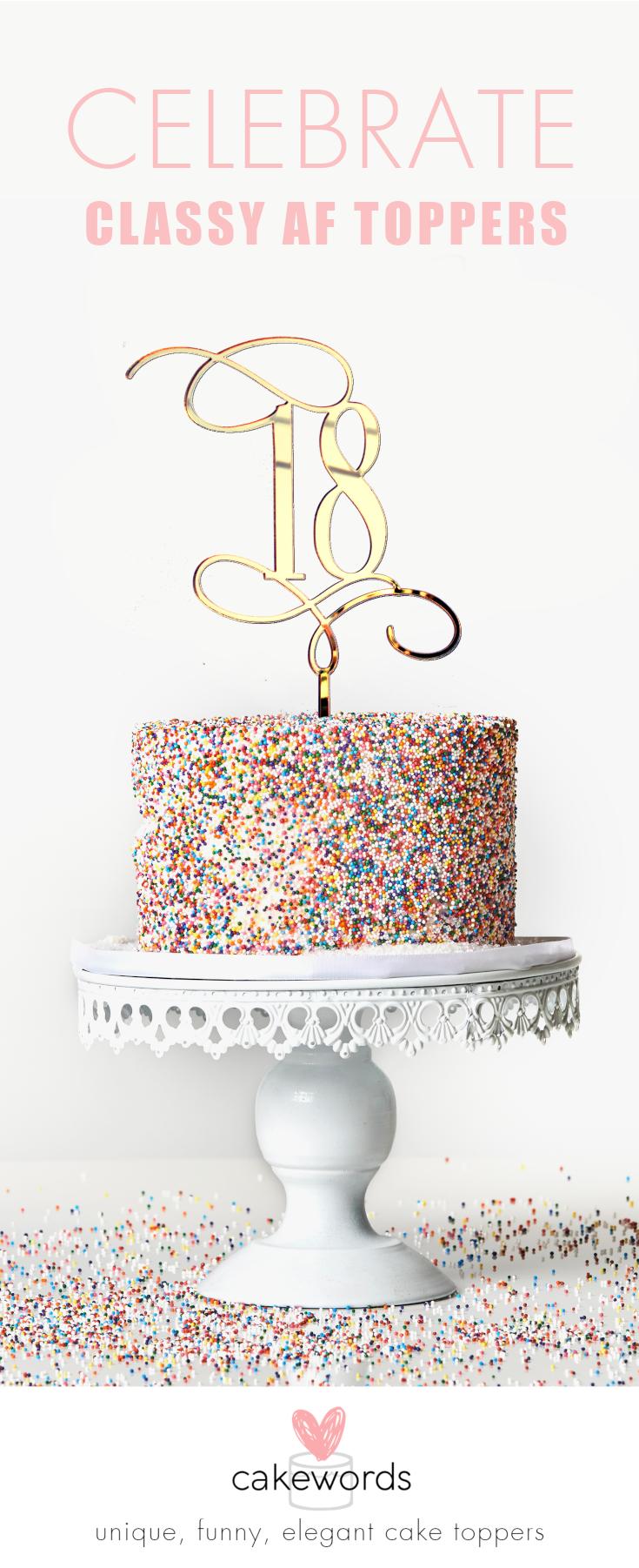 18 Birthday Cake Topper