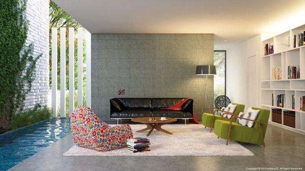 Wohnzimmer Einrichtung - Frischekick für die Wohnung
