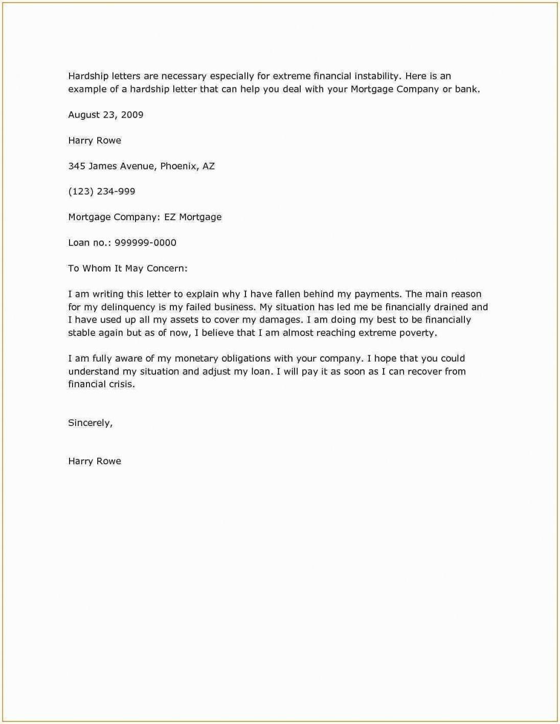Mortgage Hardship Letter Examples Support Letter Letter