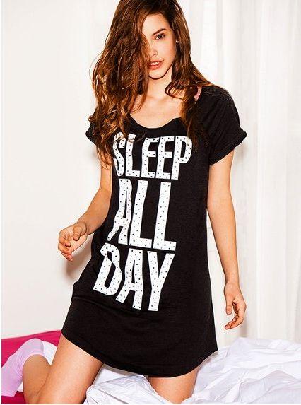 cd93376787e6 I love the long pj shirt