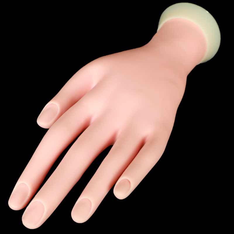 1pcs Nail Practice Hand Model Flexible Soft False Fake Hands For Nail Art Training Display Manicure Tool Nail Nail Art Machine Manicure Tools Manicures Designs