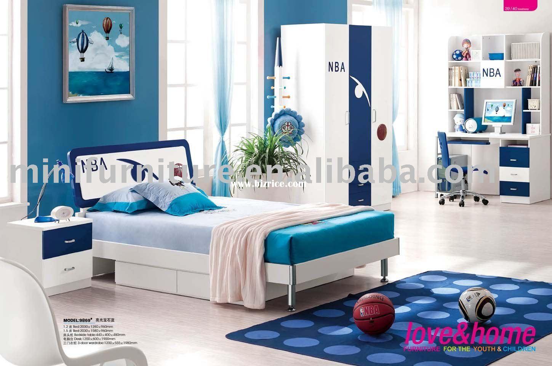 Kid Bedroom Decoration Furniture Blue Nba Picture Master Bedroom Furniture Master Bedroom Interior Blue Bedroom Decor