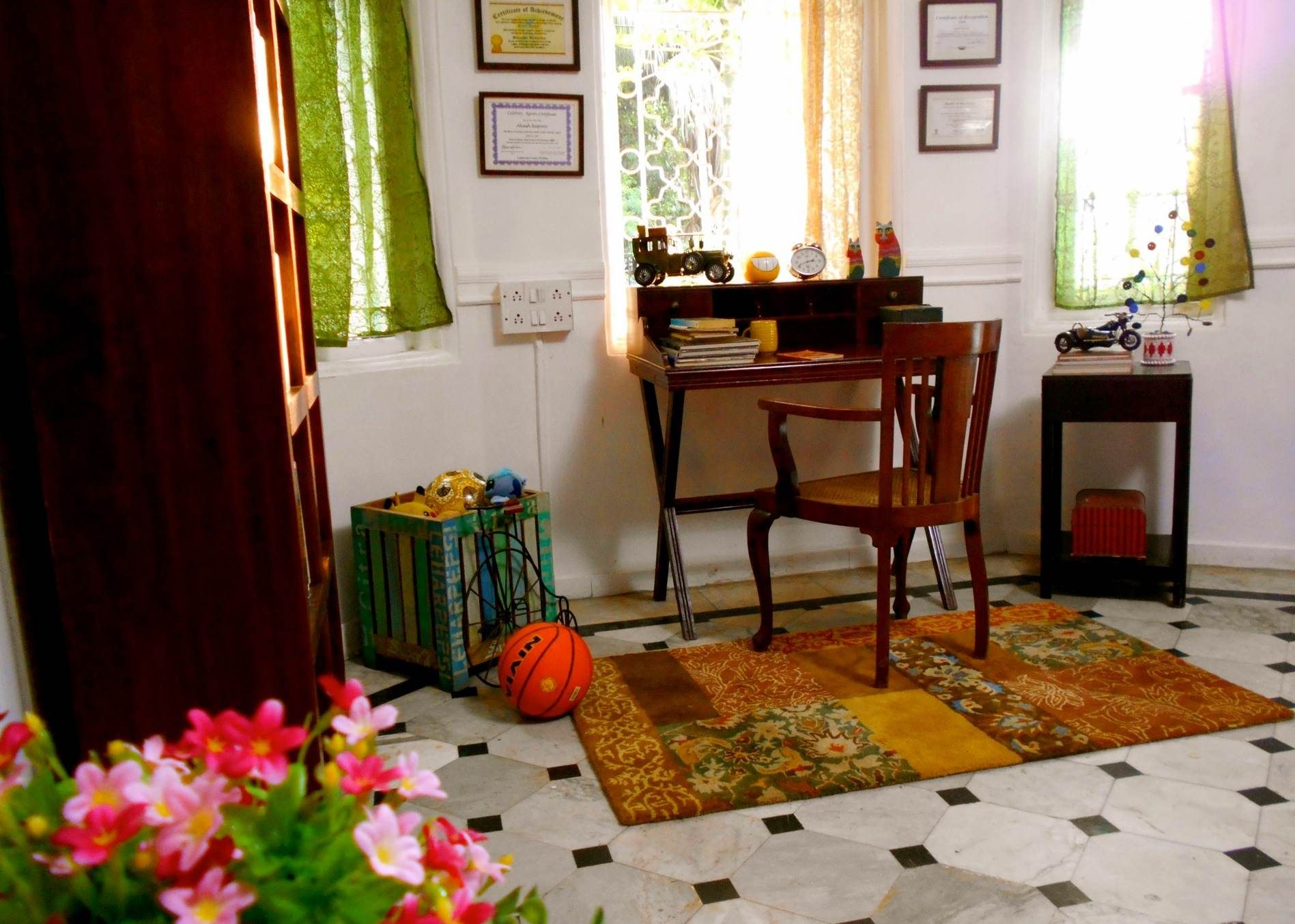 Study room colorful indian Designed and styled by Niyoti