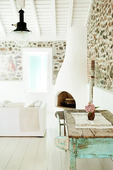 Tour A Stunning Home In The Greek Isles Vintage And Shabby Chic My