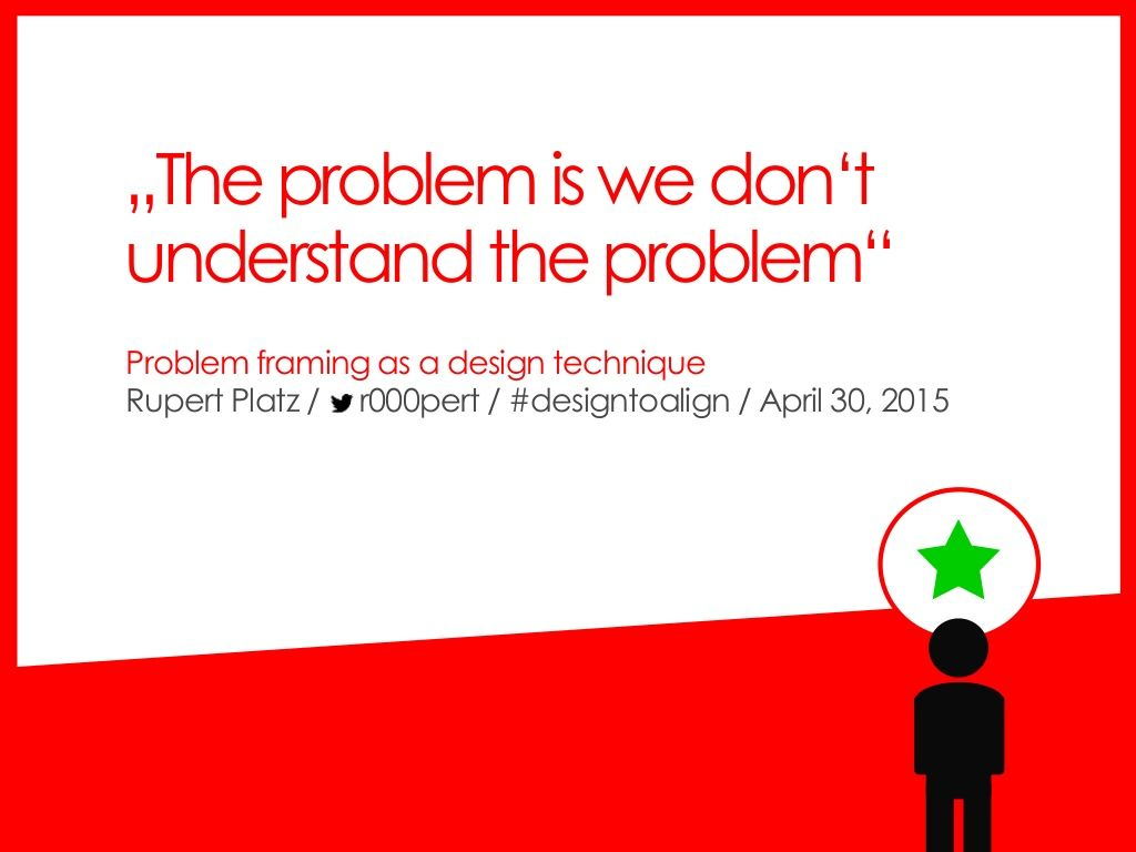 The problem is we don\'t understand the problem\
