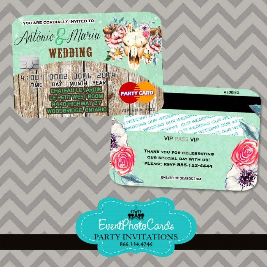 rustic country mint green wedding credit card  wedding