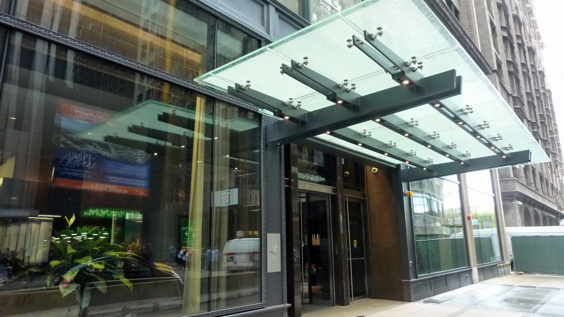 Canopy Design Glass Building House Office Buildings Spaces Abdul Basit Trump Tower Adaptive Reuse Canopies