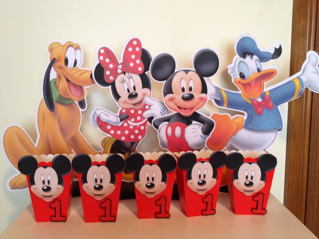 Baby Mickey Mouse Birthday Goody Bags | Baby Mickey Mouse 1st ...