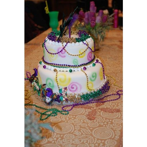 Our Mardi Gras Beads Cake Is A Fun Dessert For Your Holiday Celebration You Dont Have To Be In New Orleans Enjoy Tasty
