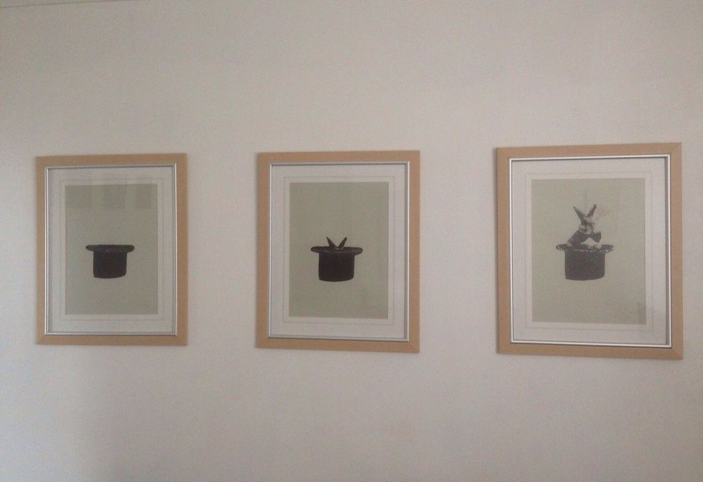 HAT TRICK emo signed URBAN ART original new free banksy postcard MINT in Art, Prints, Contemporary (1980-Now) | eBay