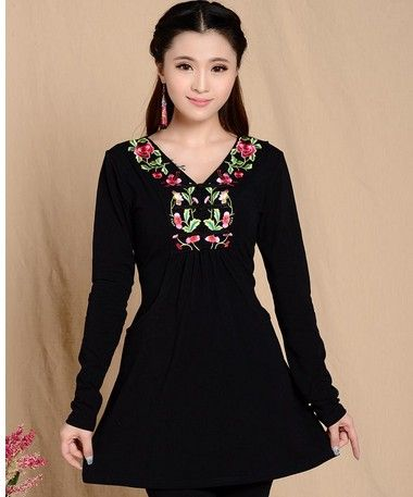 8b9dbfe4fc4 2015 Fashion Women Ethnic Mexican Embroidered Boho Cotton
