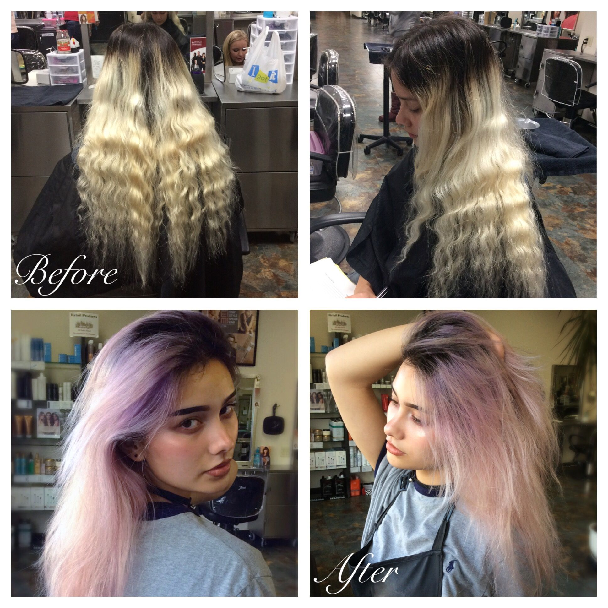 Using Blondor With 30 Volume Developer Brought Up Blonde Balayage Then Did A Shadow Root With 2 1 With Semi Permanent Color Blonde Balayage Hair Hair Styles