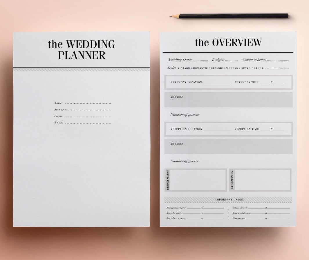 Wedding Planner Printable  Ultimate Printable Wedding Planning