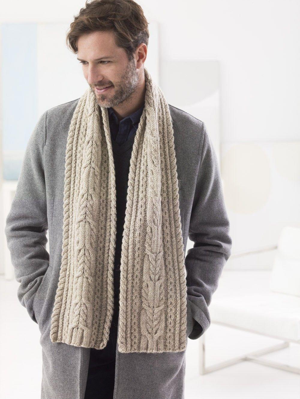 Chestnut Street Scarf (Knit) Pattern at Lion Brand Yarns ...
