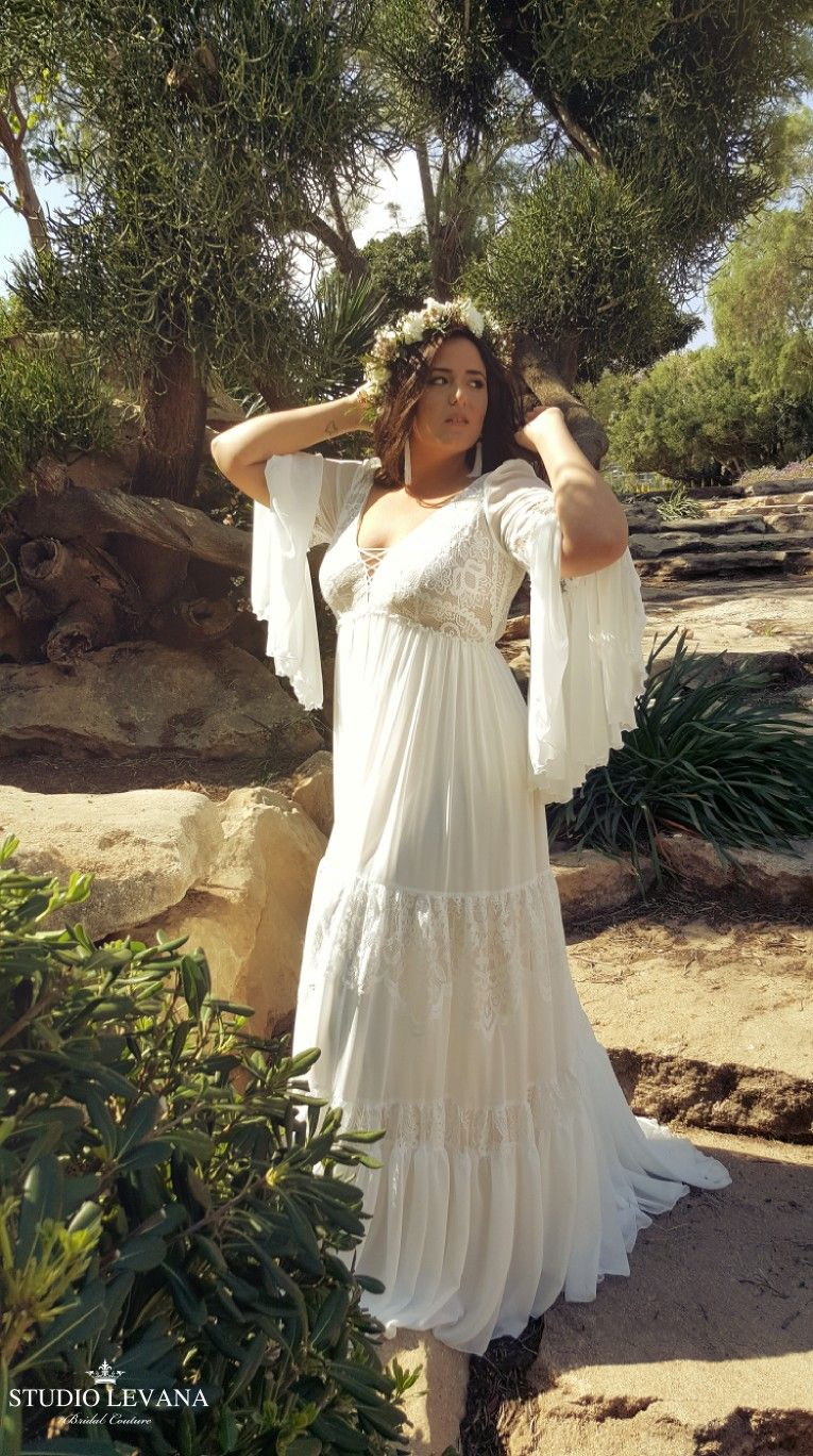 Simple Bohemian Plus Size Wedding Dresses