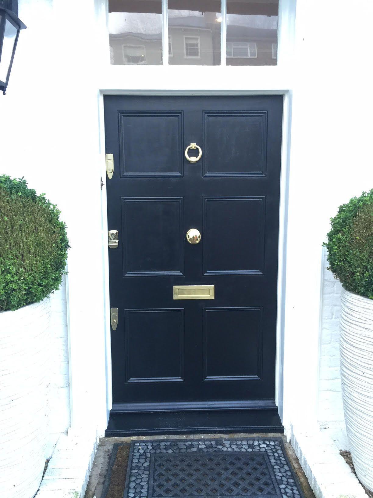 Bespoke door with door furniture. #security #doors #locks ://