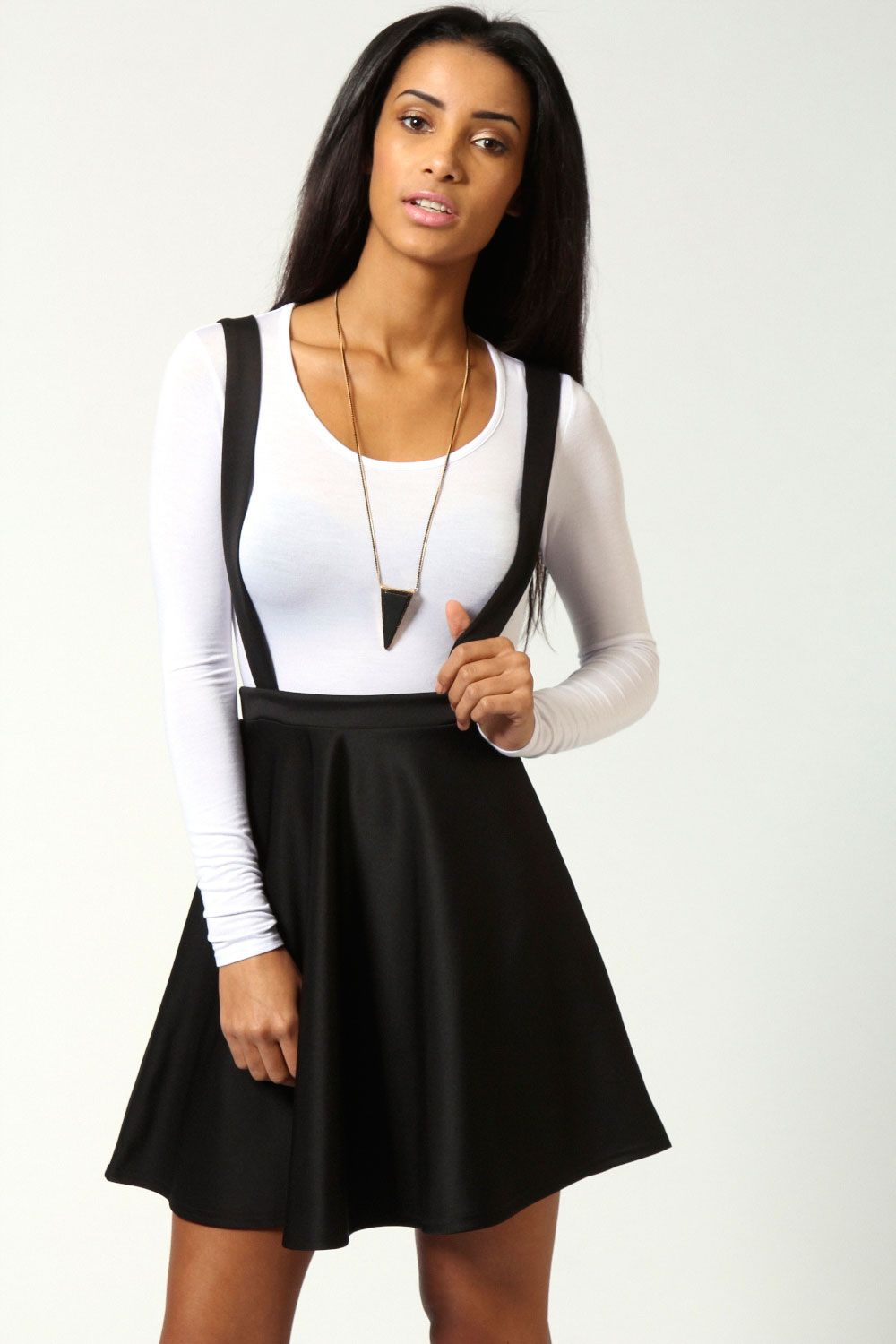 f7beaf1732 Mae Dungaree Style Skater Skirt With Braces | My Style in 2019 ...