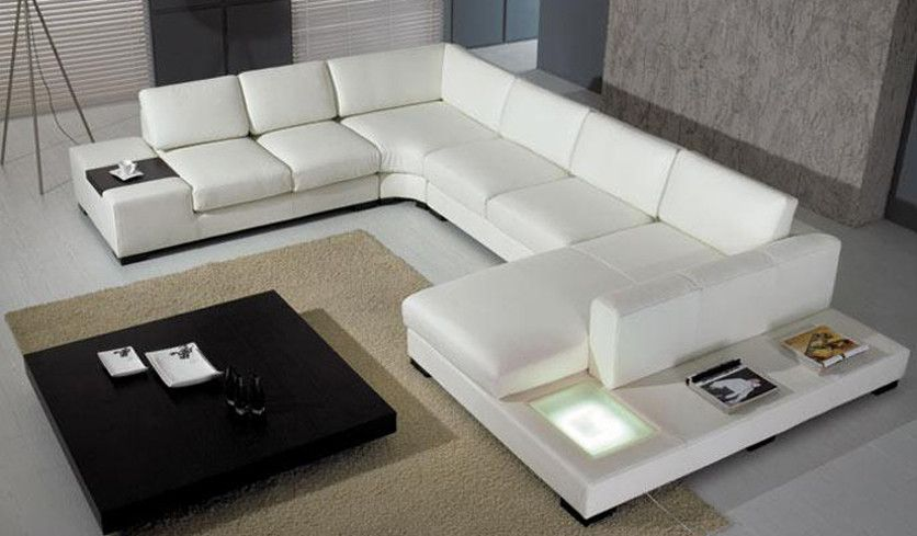Extra Large U Shaped Sofa For Home Leather Couch Sectional