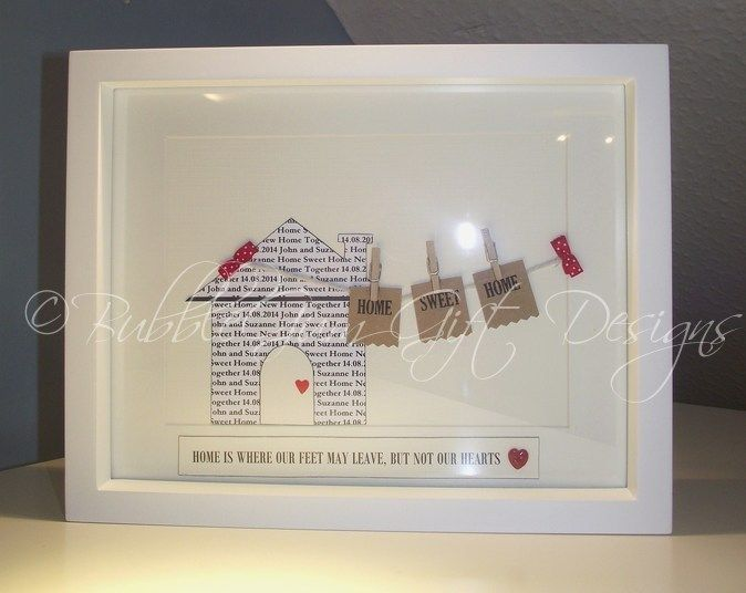 Personalised NEW HOME Gift Housewarming Family names Sweet First ...