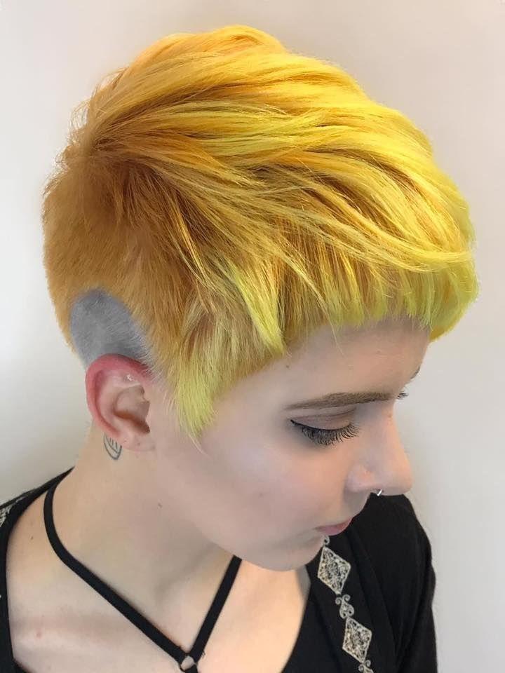 Yellow Pixie Undercut @pulpriot