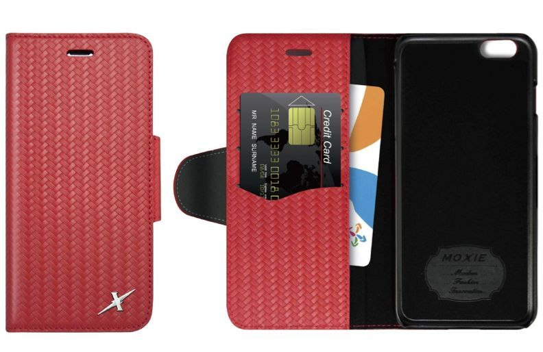 iPhone 5/SE-Mat genuine leather-Wallet Case
