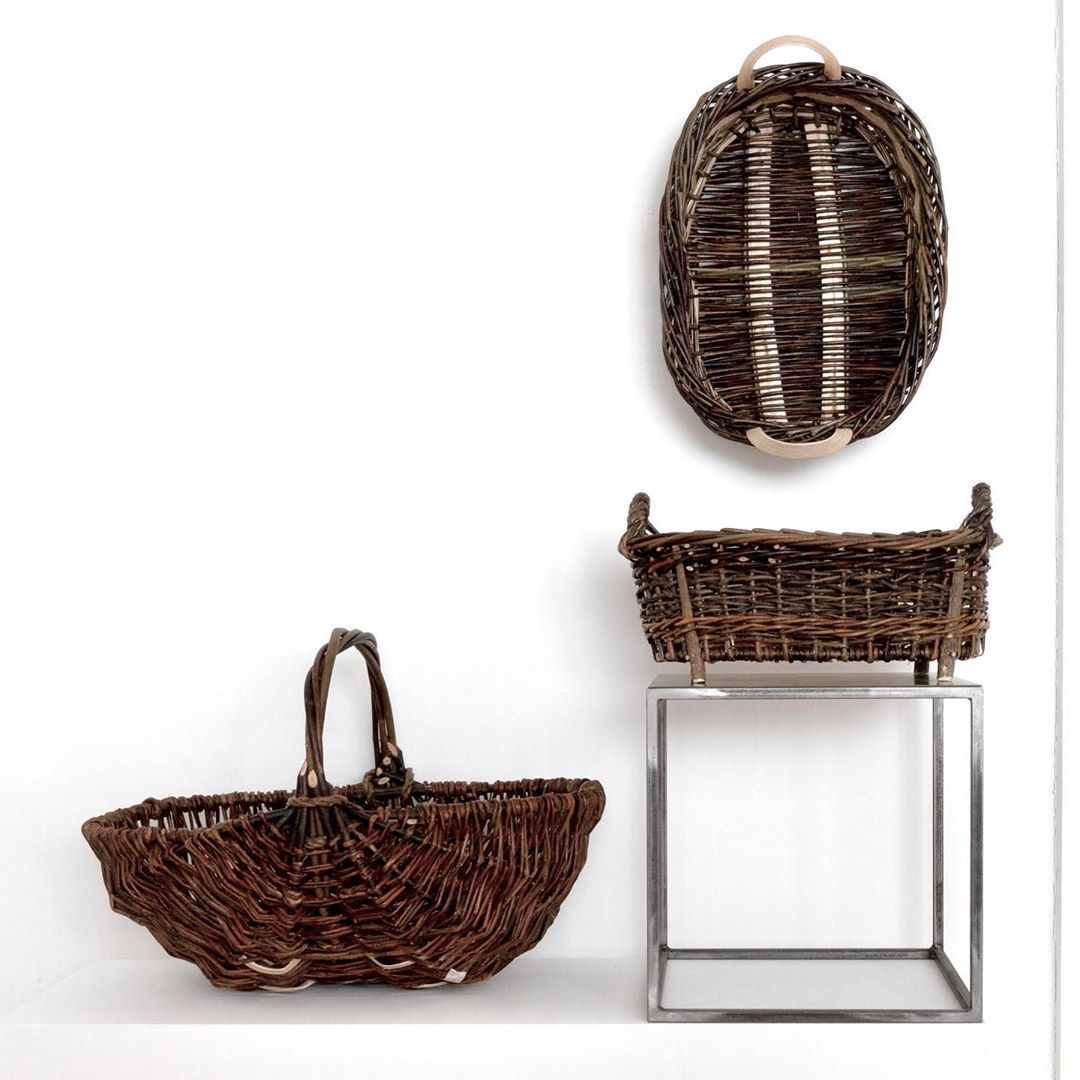 Hilary Burns Basket Weaver Large Oval Mixed Willows Pounded Ash Splint Cleft Willowmedium Oval Mixed Willows Feet Basket Weaver Basket Storage Baskets