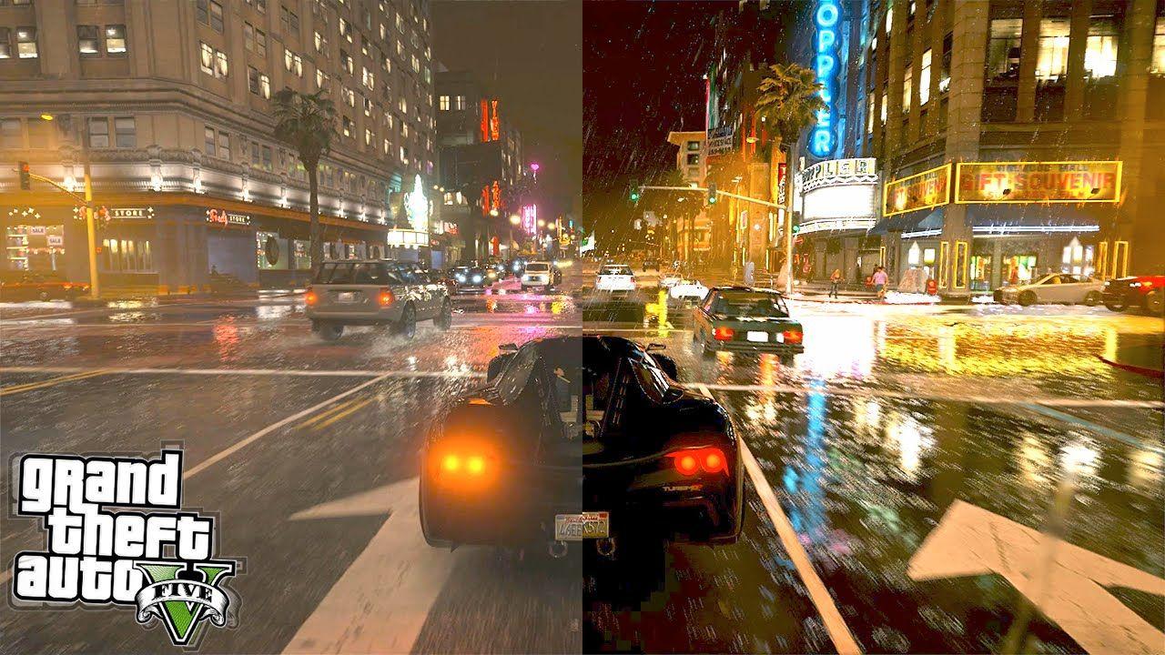 Gta  Graphics Comparison Vanilla Vs K Real Life Gta  Mods