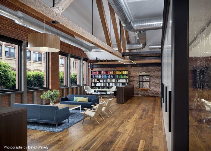 This twostory masonry and timber warehouse with rustic