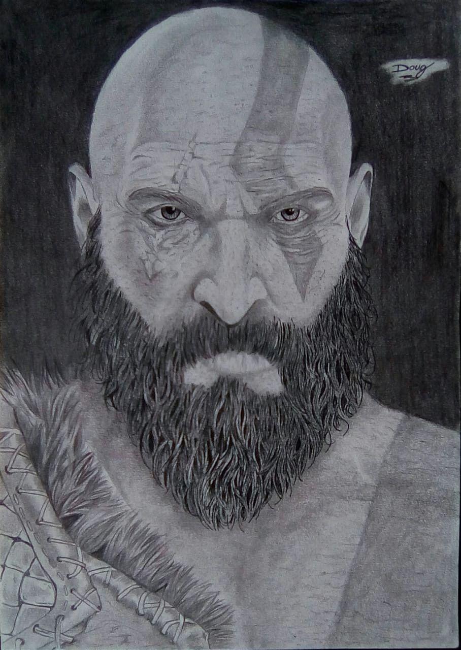 Kratos Desenho Por Doug Drawing Kratos Desenho Desenhos Desenho