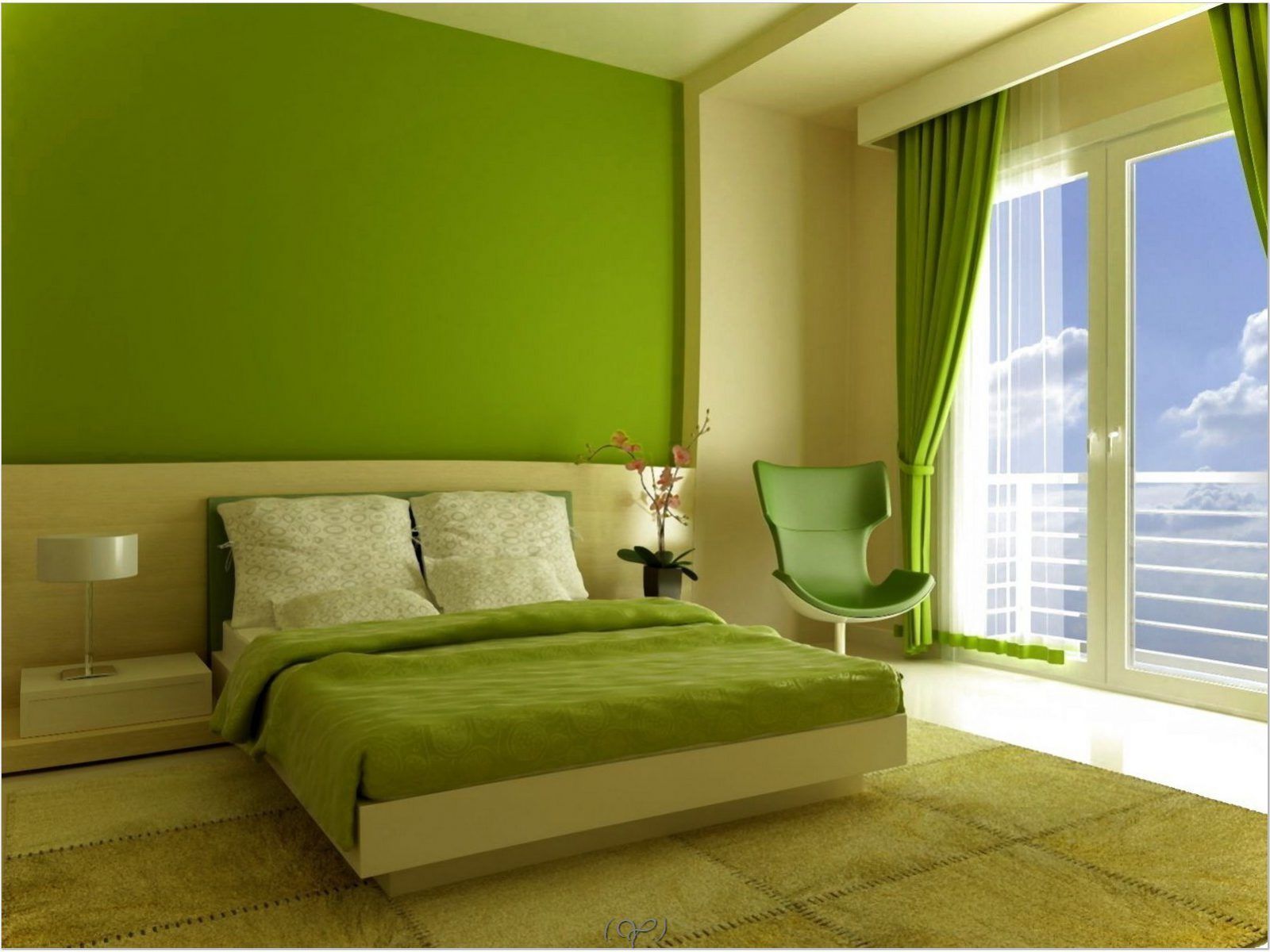 Image Result For Modern Exterior Painting Ideas India Green And White Bedroom Bedroom Wall Colors Green Room Colors