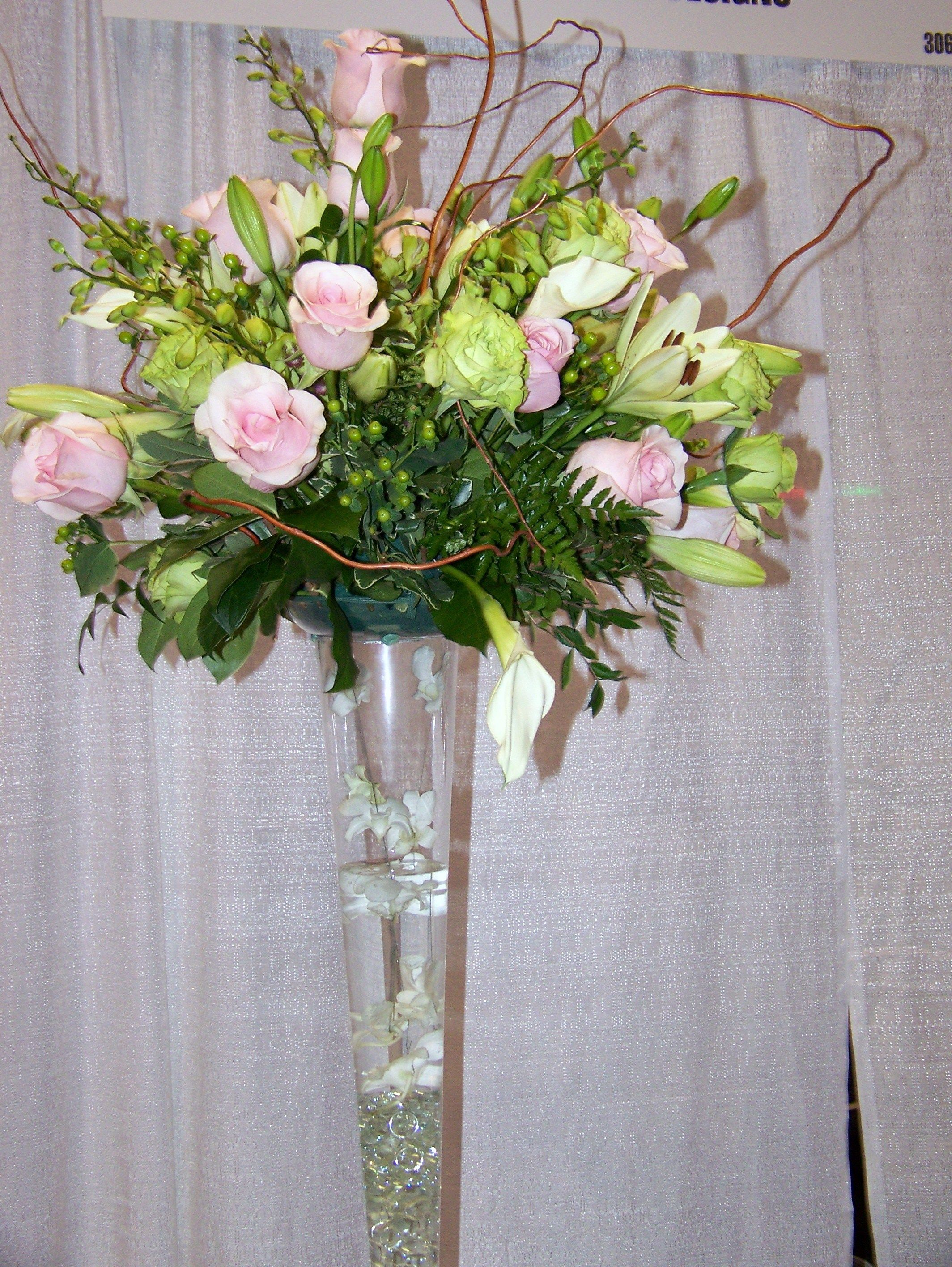 Home Decor, Wedding Flower Arrangements Tall Vases: Arranging Flower for Tall  Vases