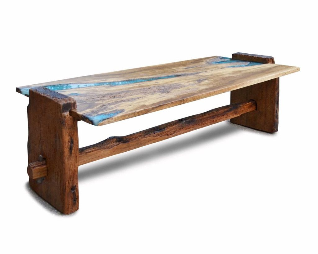 Live Edge Rustic Oak With Turquoise Inlay Coffee Table Ad Hoc Home Rustic Furniture Live Edge Rustic Coffee Table [ 819 x 1024 Pixel ]