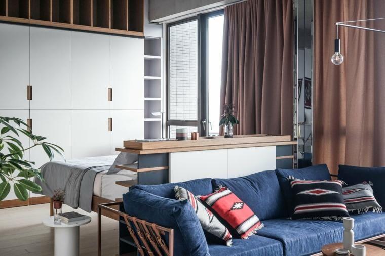 Apartments Raum optimiert mit Kreativität und Einfallsreichtum