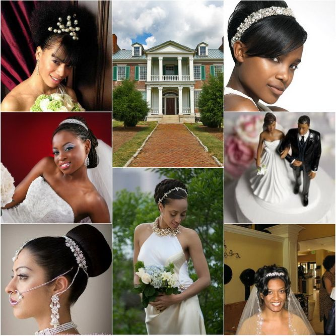Updo Bun With Tiara For Wedding Hairstyles Blackwomen Hairstyle